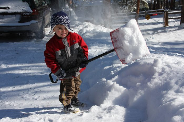 2. They have to learn to shovel snow from a young age.