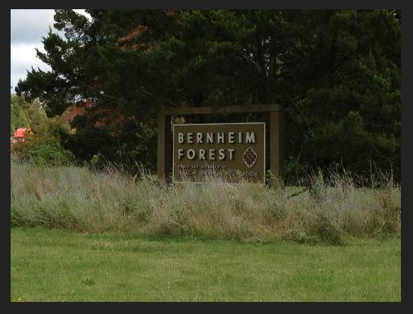 The entrance to Bernheim Forest: