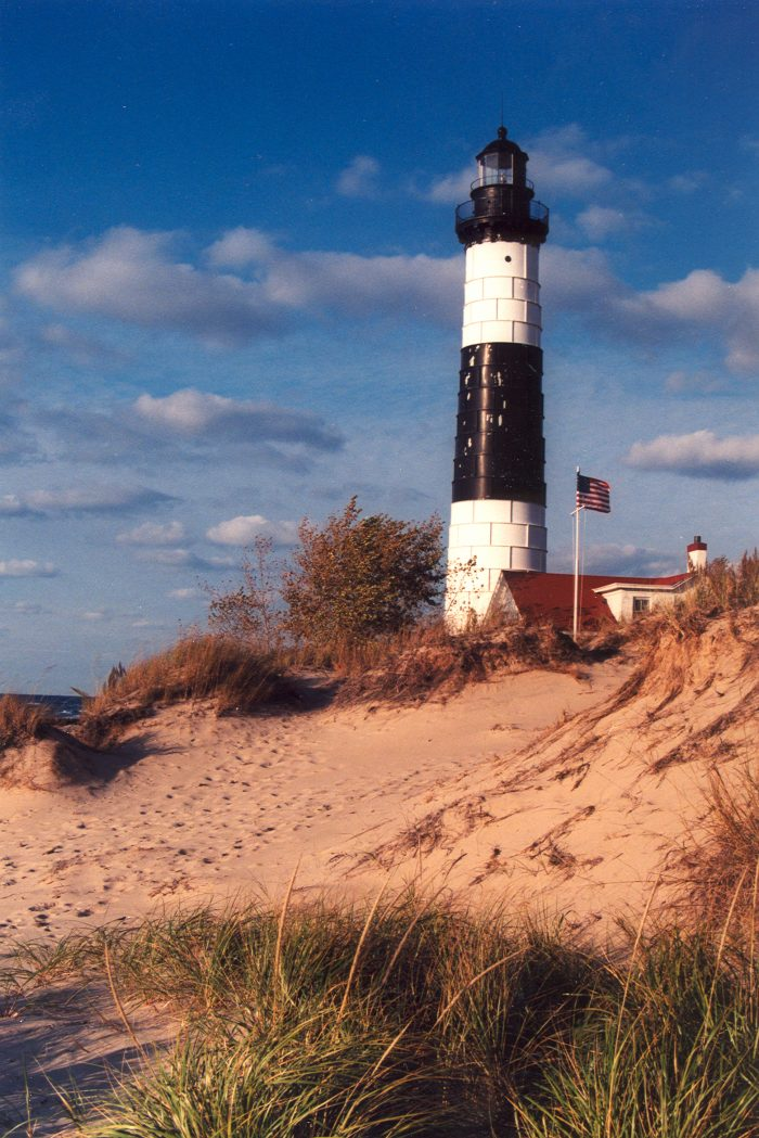 3. Climbing to Big Sable Point Lighthouse
