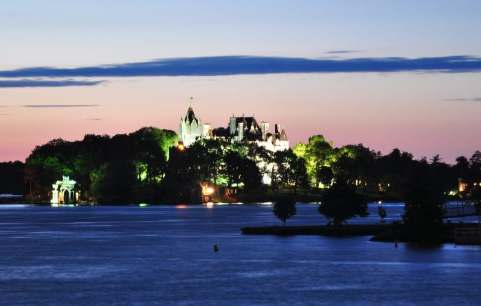 7. One of our favorite islands. We'll give you a hint, that's a castle you're seeing so brightly lit up!