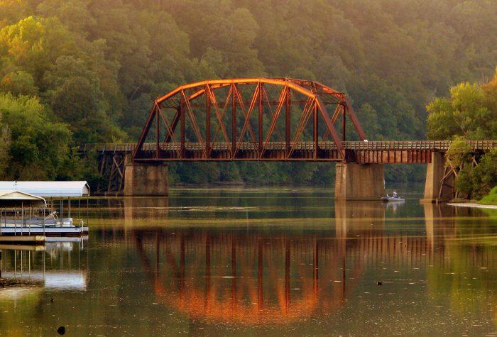 6. The Cumberland River Bicentennial Trail Bridge.