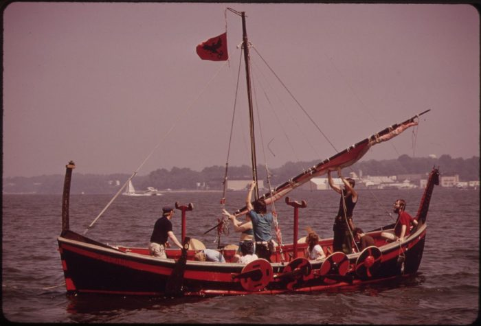 11. A leisurely day in July 1973 on Maryland's Chesapeake Bay.