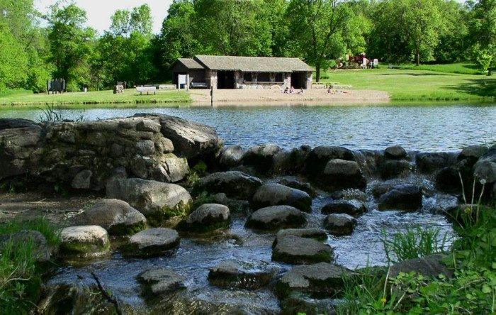 6. Swim at the Canden State Park spring fed lake. The beach is beautiful and sandy, and the water is crystal clear!