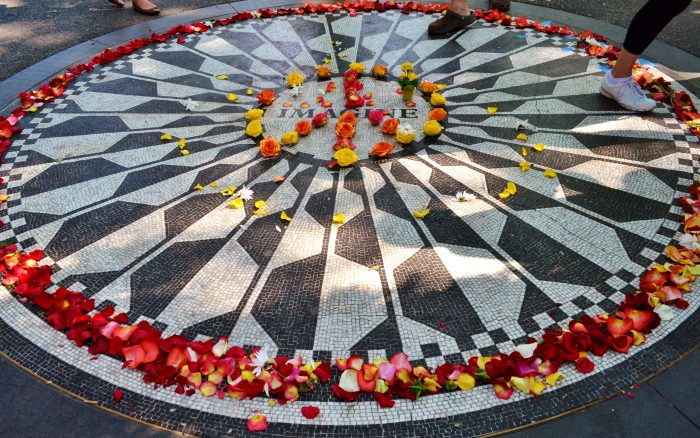 8. You may have never noticed, but Strawberry Fields is actually in the shape of a teardrop.