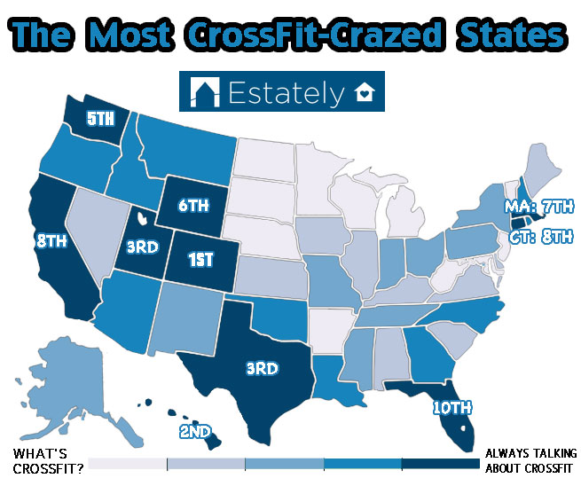 9. The Geography of American CrossFit Enthusiasm