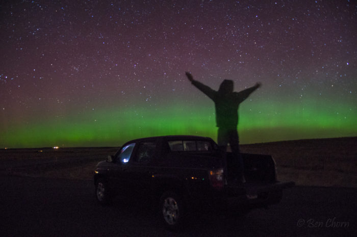 6. The Northern Lights in Billings.