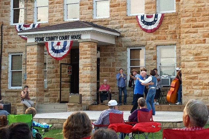 5. Mountain View was built because it was at the center of Stone County.
