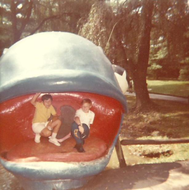 1. These two boys are playing on Willie the Whale at the former Enchanted Forest in Ellicott City. Photo taken in 1972.