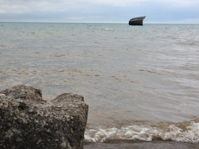 9. Even in shallow waters, these ships are still visible to the average visitor.