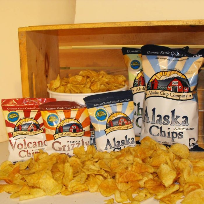 6. Snacking on chips from the lower 48.