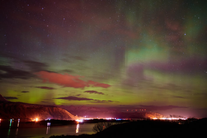 2. Staying inside when the Northern Lights are dancing.