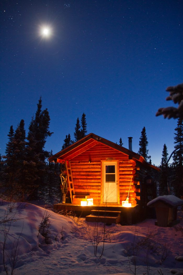 4. Log cabin getaways.