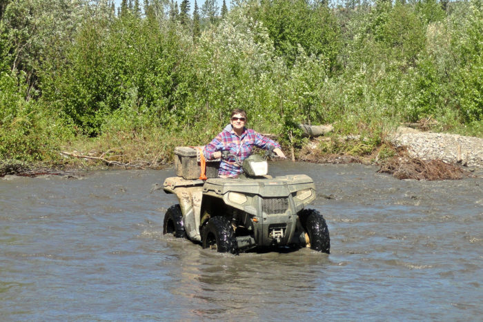 4. Spent all day four-wheeling with friends and family.