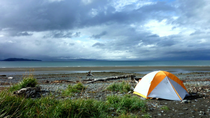 5. Camping without a view.