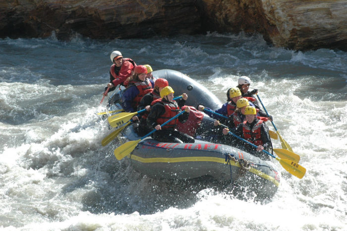 4. Get a good adrenaline rush on a whitewater rafting tour.