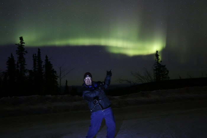 13. Ran outside in amazement when the Northern Lights were dancing.