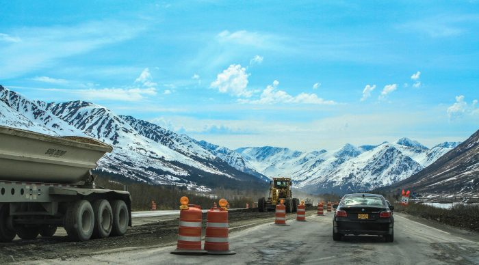 3. The worst thing about summer in Alaska is that the construction lasts for nearly 24 hours a day.