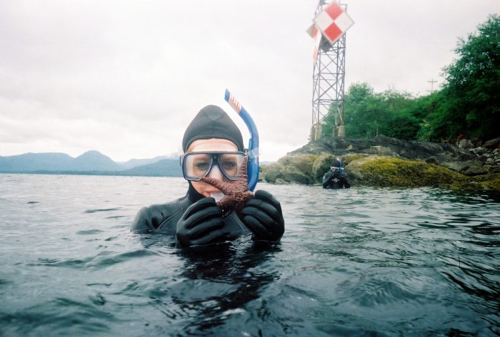 24.  If you want to go swimming, don't do it without a wet suit.
