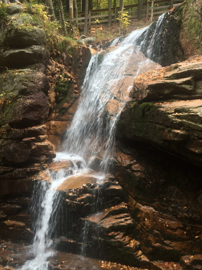 6. The famous Flume Gorge was discovered by a 93-year-old woman on a fishing trip.
