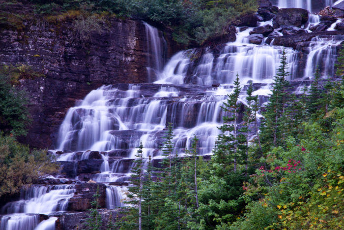 11. This beautiful waterfall near Stoney Indian Pass.
