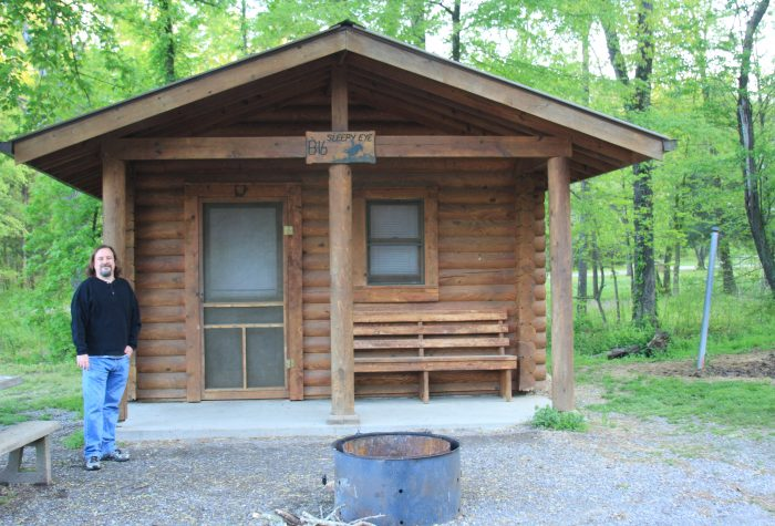 8. Go camping or rent a cabin.
