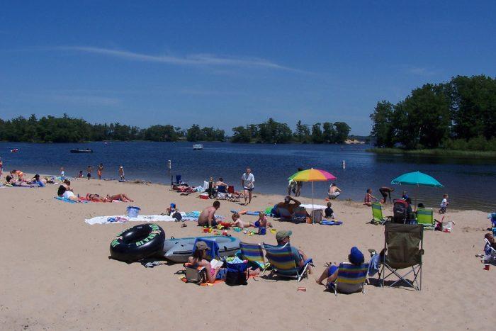 4. Sunbathing at Hamlin Lake