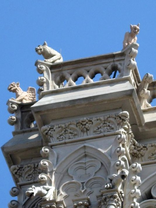 6. Hand carved gargoyles