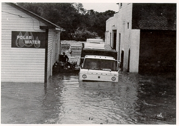 2. Flooding after hurricane Agnes in June 1972.