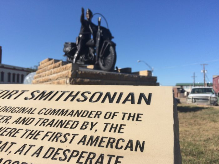"""1. Fort Smith recently unveiled a statue of General William O. Darby—with a misspelling of the word """"American"""" on the plaque that explains who William O. Darby is."""
