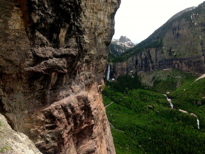 12. Or climbing the Via Ferrata in Telluride...