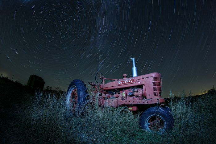 20. The stars over this tractor are just magical.