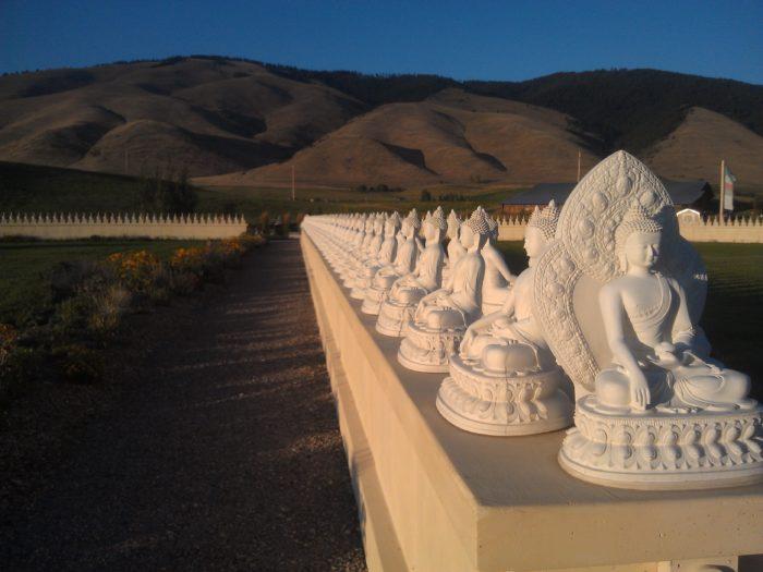 6.  The Garden of 1,000 Buddhas in Arlee.