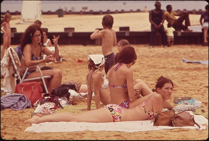 10. A summer day in 1973 at Sandy Point State Park.