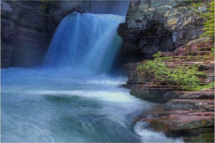 3. Waterfall at Glacier National Park