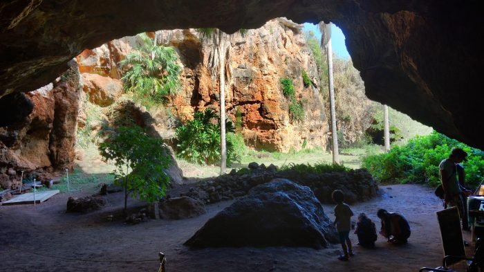"""A local archaeologist rediscovered the Hawaiian name of the cave, Makauwahi, or """"smoke eye"""" in Hawaiian, in 2000 when he found reference to the cave in an essay written by a high school student more than a century prior."""