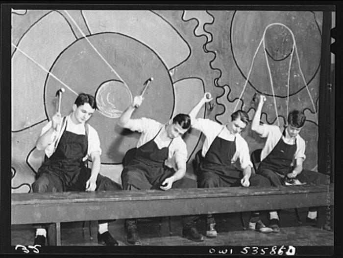 Delaware school Pantomime Manual Labor