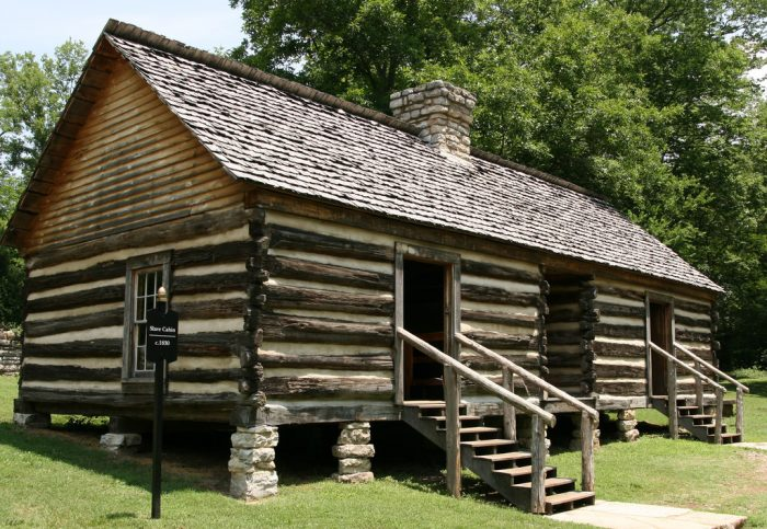 7. This is an old slave cabin, from long ago.