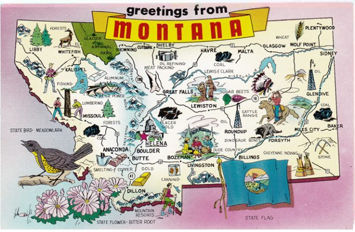 1. Montana is pretty well-located on our continent.