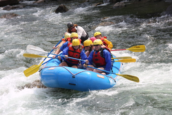 5. Go whitewater rafting.