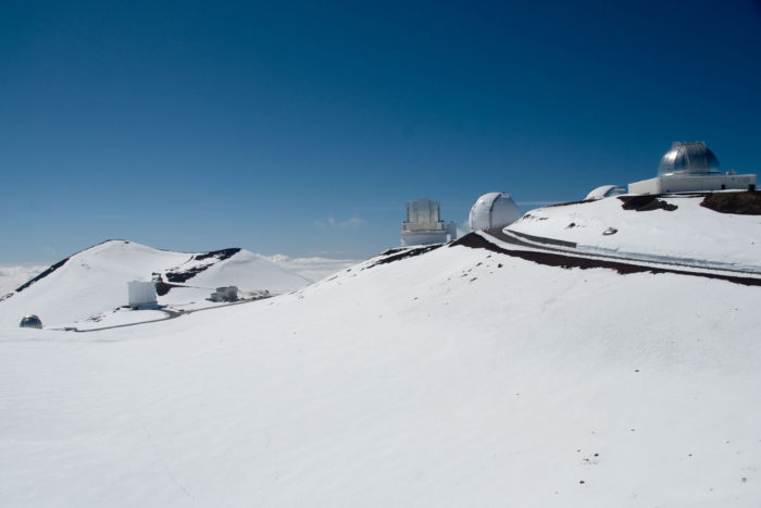 3. Most people probably wouldn't guess that this snowy landscape can be found at the summit of Hawaii Island's Mauna Kea.
