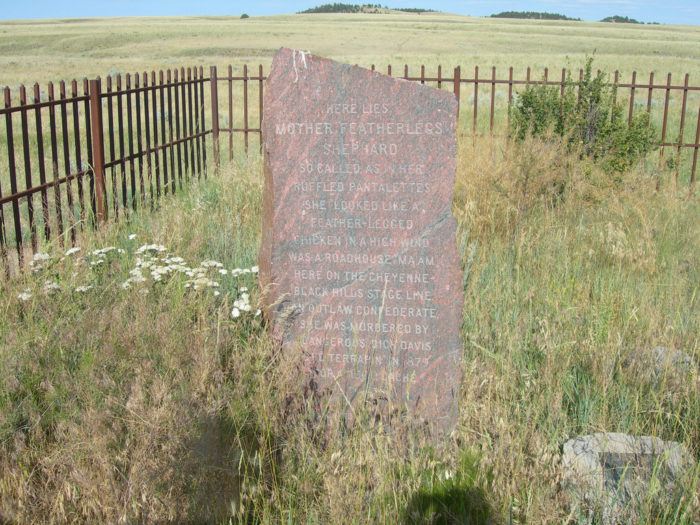 10. Wyoming is the only state to have a monument dedicated to a prostitute.
