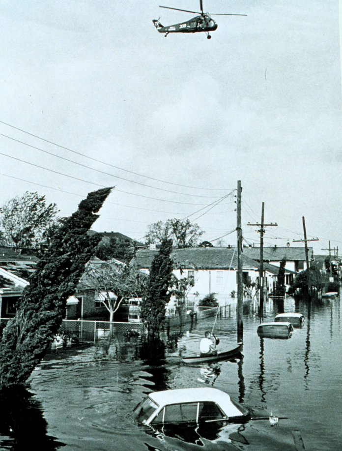 7. Flooding after Hurricane Betsy, New Orleans
