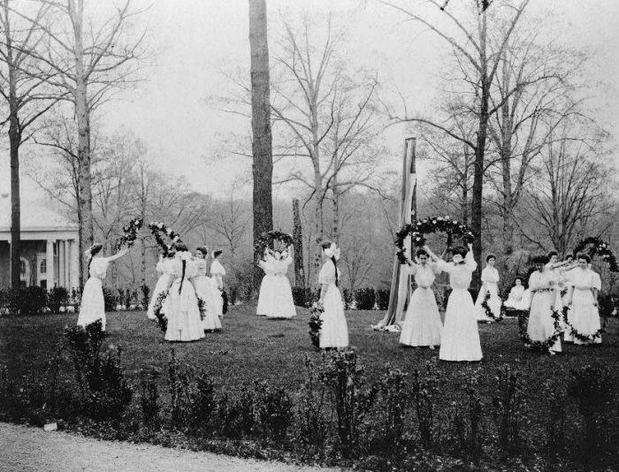 6. The May Day Festival at the National Park Seminary in Forest Glen. Photo taken in 1907.