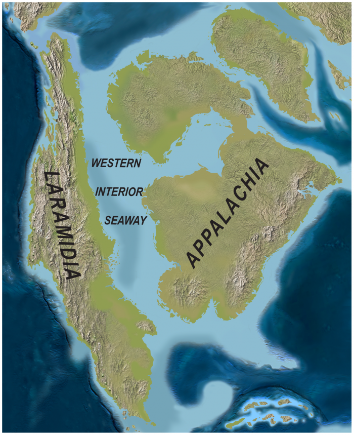 1. This triply-landlocked state was once under an ocean.
