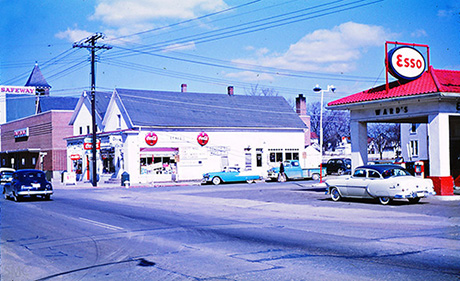 11. An image of North Frederick Avenue and Brookes Avenue in Gaithersburg. Photo taken in 1956.