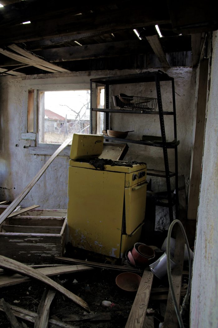 Old Yellow Stove