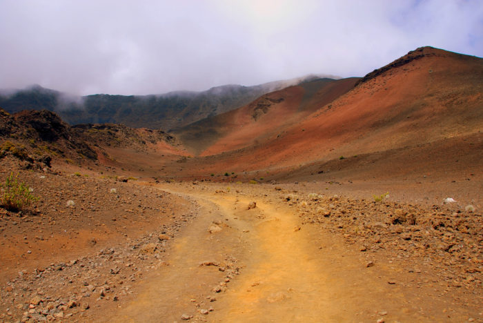 8. On the slopes of Mount Haleakala, you will find this hiking trail that will make you feel as though you've left Hawaii and entered the desert.