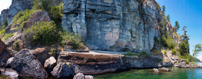 13. Painted rocks at Flathead Lake.