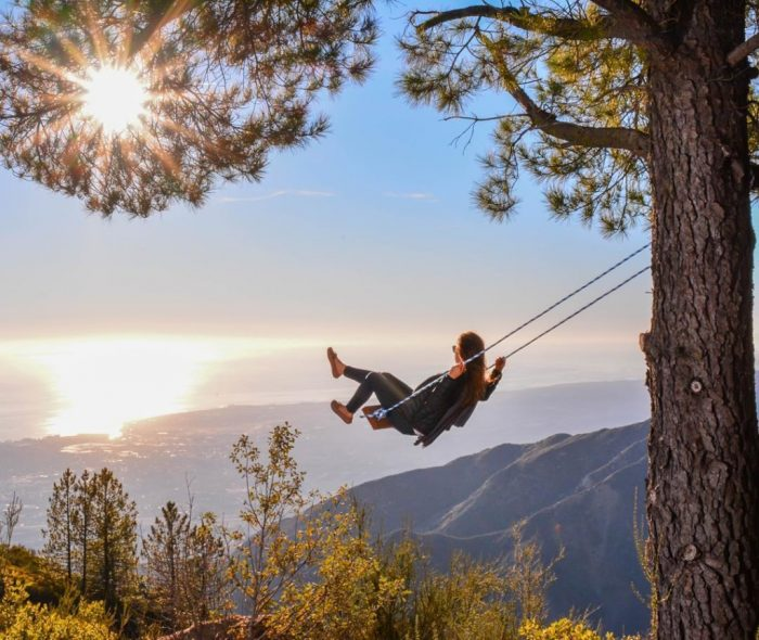 14. If you're feeling bold, how about an adventure on an outdoor swing? This is the payoff you'll experience at Potter's Point in Santa Barbara.