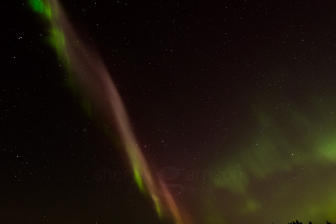 "Amidst an impressive display of the aurora borealis, a rare ""proton arc"" appeared to cut across the night sky."